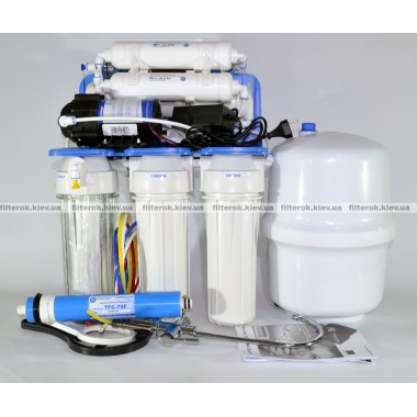 Aquafilter Голубая Лагуна 8 (FRO8JGMP) Mp система обратного осмсоса с насосом и минерализатором