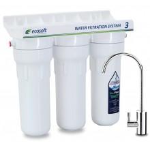 Тройная система очистки воды Ecosoft с технологией EcoFiber