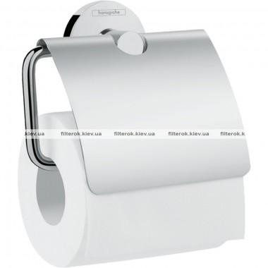 Держатель туалетной бумаги Hansgrohe Logis Universal 41723000, с крышкой