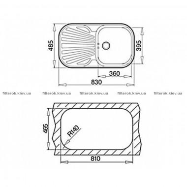 Кухонная мойка Teka STYLO 1B 1D (10107043) нержавеющая сталь