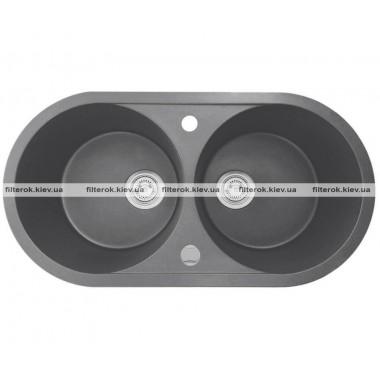 Двойная мойка + клапан-автомат AXIS PLAY 1.149.220.59
